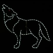 Halloween Decoration Led Lighted Howling Wolf Light Display Yard Art Outdoor