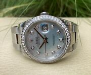 Rolex Datejust 36 126284rbr Mother Of Pearl Unisex Adult Watch