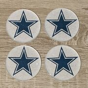 Dallas Cowboys Dayton Wire Wheel Chips Emblems Decals Set Of 4 Size 2.75in.