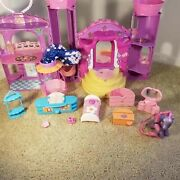 My Little Pony Celebration Castle 2003 W/ Accessories And Pony Sound And Lights Mlp