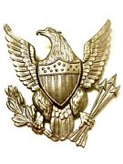 Large Cap Badge Us Army Shako Insignia For Spiked Helmet Screw Back