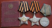 Very Very Rare - Russian Soviet - Тwo Orders And One Medal With The Document