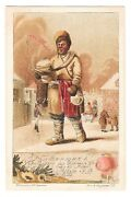 Set Of 6 Early Russian Street Sellers Complete Red Cross Vintage Postcards 1900
