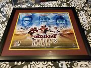 Redskins Joe Theismann, Larry Brown, Mark Mosley Autographed Professionally...