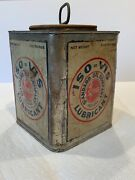 1920andrsquos Standard Oil Motor Oil Iso-vis Can Nice Condition Very Scarce