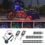 New Ledglow 6pc Advanced Million Color Led Smd Motorcycle Accent Glow Lights Kit