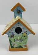 Royal Doulton Home Tweet Home 2001 Honeycomb Cottage Birdhouse Bee Floral