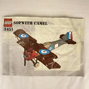 Vintage Lego 3451 Sopwith Camel Wwi Airplaneinstruction Manual Booklet 2001