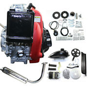 4-stroke 49cc Motor Engine Kits 44 Tooth 9 Hole Sprocket 27-32 Mph Or 43-51 Kph