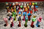 Lot Of 39 Vintage Pez Candy Dispensers Random Assorted View Pictures Please