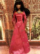 Pink Satin Gown For Integrity Girl Fashion Dolls / Barbie / Silkstone New 💞