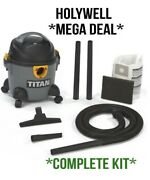 New Titan Ttb774vac 1300w 16ltr Wet And Dry Heavy Duty Vacuum Cleaner/hoover 240v