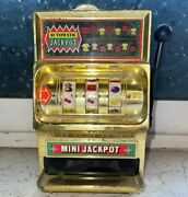 Old Vintage Plastic Jackpot Casino Slot Machine Toy From Japan 1960 .