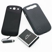 New 7500mah Extended Battery Back Cover Tpu Case For Samsung Galaxy S3 Sch-i535