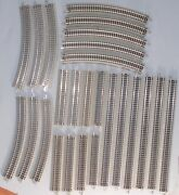 N Scale Train Bachmann Lot Of Ez Track Section Clean