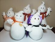 Vintage Lot Halloween Hallmark 13 Glimmer The Ghost Count Ghostula Candy Plush
