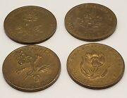 Lot 4 Different Vintage Canadian Commemorative Shell Medallions/tokens/coins