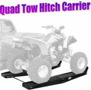 Steel 1000 Lb Quad Atv Go Cart Tow Hitch Rack Hauler Carrier With Loading Ramps