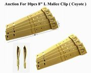 10 X Tactical Tailor - Short 8 Coyote Malice Clips For Gerber, Buck Knife Pouch