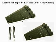 10 Tactical Tailor-short 8 Army Green Malice Clips For Gerber, Buck Knife Pouch