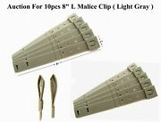 10pcs. Tactical Tailor - Short 8 Gray Malice Clips For Gerber, Buck Knife Pouch