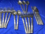 18 Pcs Pier 1 Pii23 Stainless Flatware 18/8 Bamboo Handle Heavy Hardto Find—a30