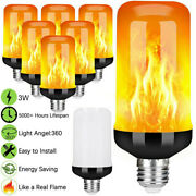 E27 B22 96led Flame Effect Fire Light Bulb Flickering Flame Candle Lamp Decor Us