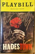 Hades Town Cast Signed Autographed Broadway Playbill By 5 Leads In Copper