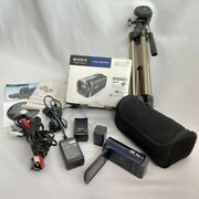 Sony Hdr-cx170 L Handycam Camcorder With Tripod Accessory Kit 2010system Used Uq