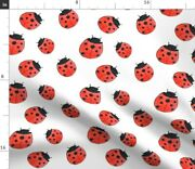Ladybug Nature Insect Animal Nursery Kids Red Spoonflower Fabric By The Yard