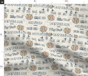 Vintage Boys Nursery Sports Quotes Baseball Baby Spoonflower Fabric By The Yard