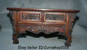 20.2 Antique Old Chinese Huanghuali Wood Dynasty 2 Drawer Table Desk Furniture