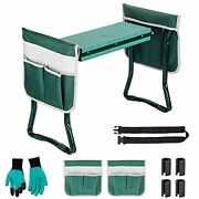 Garden Kneeler And Seatansten Foldable Garden Bench Stools With 2 Tools Pouches