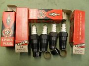 4 New Co-op C-2 Spark Plugs 1/2 Inch Pipe Plug Antique Vintage Nors