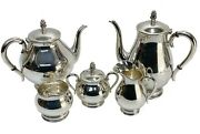 5pc Japanese Hirata And Co. Sterling Silver Tea And Coffee Set