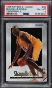 1996 Skybox E-x2000 Shaquille Oand039neal Credentials Psa 8 475/499 Rare Lakers 32