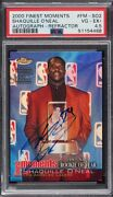 2000 Topps Finest Shaquille O'neal Autograph Refractor Psa 4.5 1993 Roy Fm-so2