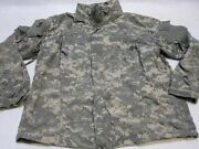 Used Army Issue Top Acu Digital Soft Shell Jacket Gen 3 Parka Med/long Level 5