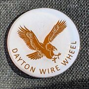 White And Copper Dayton Wire Wheel Chips Emblems Decals Set Of 4 Size 2.25in.