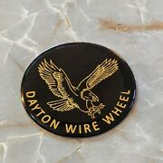 Black And Gold Eagle Dayton Wire Wheel Chips Emblems Decals Set Of 4 Size 2.25in.
