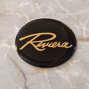 Black And Gold Riviera Wire Wheel Chips Emblems Decals Set Of 4 Size 2.25in.