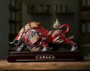 Chinaware Pottery Porcelain Handwork Fengshui Decoration Wealth Ox Bull Cattle