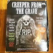 Creeper From The Grave Tombstone Halloween Prop Decoration Animated