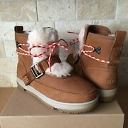 Ugg Classic Weather Hiker Chestnut Waterproof Leather Snow Boots Size 7 Women