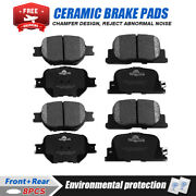 Front And Rear Ceramic Brake Pads For 2005 2006 2007 2008 2009 2010 Scion Tc