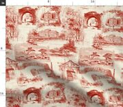 French Vintage Toile France Turkey Red Luxe Spoonflower Fabric By The Yard