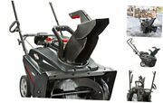 1022e 22-inch Single-stage With Push Button 208cc Snow Blower Electric Start