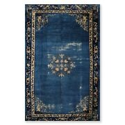 8and0399 X 14and0392 Early 1900s Hand Knotted Antique Chinese Art Deco Oriental Area Rug