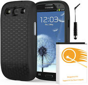 7500mah Extended Battery Hard Cover Case Stylus For Samsung Galaxy Siii S3 I9300