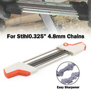 2 In 1 Chainsaw Teeth Quick Sharpener File For Stihl .325 4.8mm Chain S7